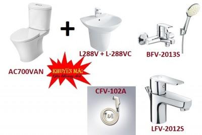 Combo bồn cầu inax AC-700VAN + L288V + L288VC +LFV-2012S + BFV-2013S + CFV102A