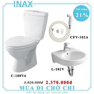 Combo bồn cầu inax C-108VA + L-282V + CFV-102A