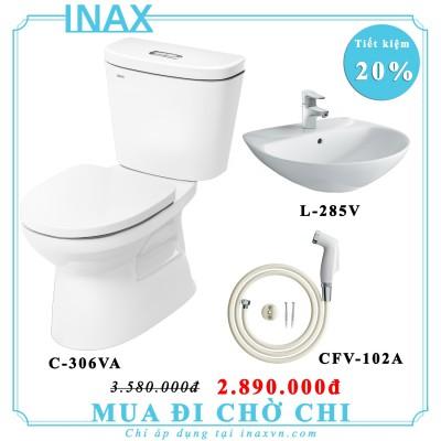 Combo bồn cầu inax C306VA + L285V + CFV102A