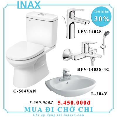 Combo bồn cầu inax C504VAN + L284V + BFV1403S-4C + LFV1402S