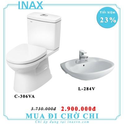 Combo bồn cầu inax C-504VAN + L284V