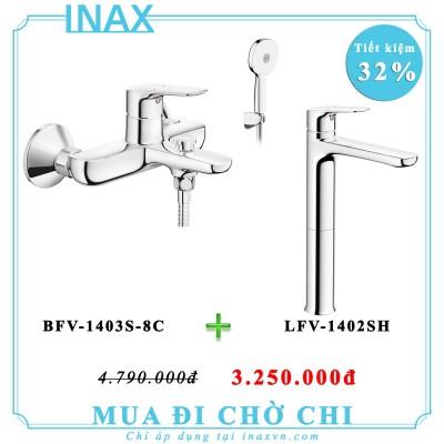 Combo vòi sen tắm inax BFV-1403S-8C + LFV-1402SH